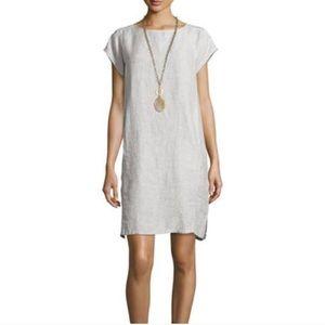 Eileen Fisher organic linen oversized dress